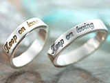 シルバーペアリング「Keep on loving」 fiss-fl-fr011