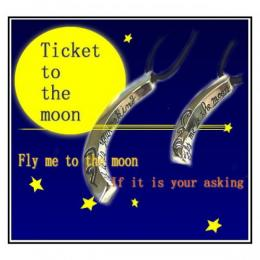 【FISS】ペアネックレス Ticket to the moon FISS-T111