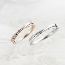 Lovers&Ring ピンクゴールド& ホワイトゴールド LSR0656DPK-WG