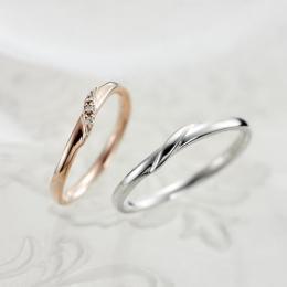 Lovers&Ring ピンクゴールド&ホワイトゴールド LSR0655DPK-WG
