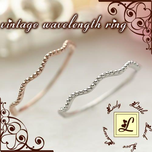 L(エル) vintage wavelength ring