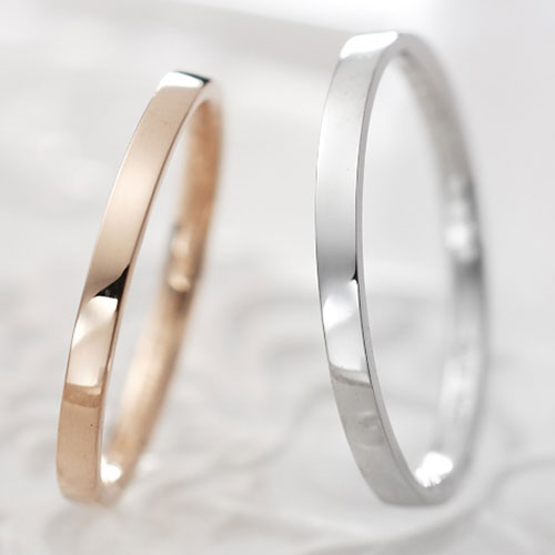 Lovers&Ring FirstLove ピンクゴールド&ホワイトゴールド ペアリングLSR0605PK-WG