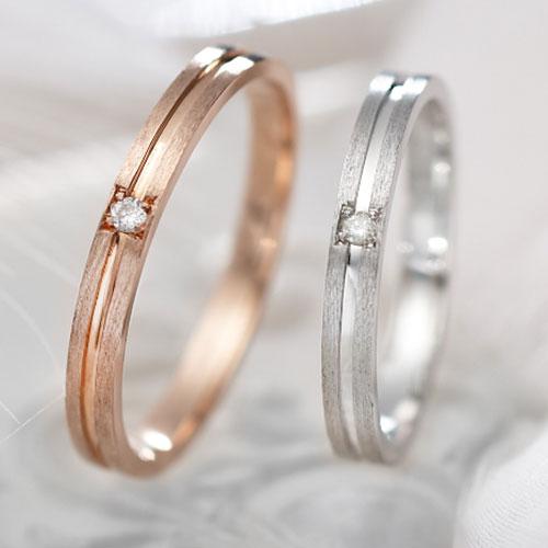 Lovers&Ring FirstLove ピンクゴールド&ホワイトゴールド ペアリングLSR0602DPK-DWG