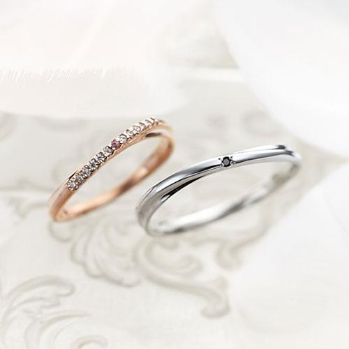 Lovers&Ring TrueLove ピンクゴールド&ホワイトゴールド ペアリングLSR0660PK-WG