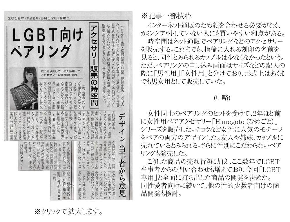 Himegotoが日経新聞さんに取材されました