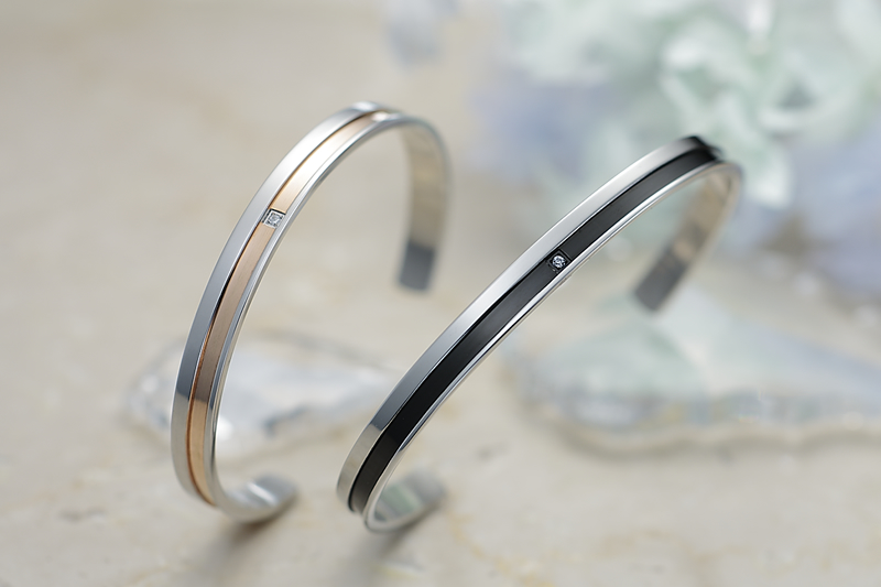 new product 16b32 2b238 Pure Stainless ペアバングル [One-line-bangle]   ペア ...